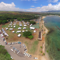 Ariel shot of the 2016 Hale'iwa Arts Festival.