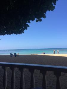 Hau Tree Lanai is located right on the beach in Waikiki.