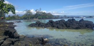 Looking to spend a day in Hilo? Check out this guide! Pictured here is Carlsmith Beach Park, a great place to snorkel and swim -- and maybe see sea turtles.