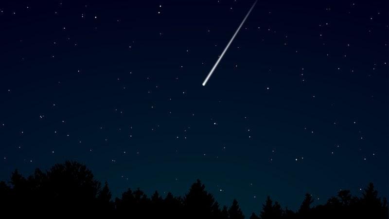 Perseid Meteor Shower over Hawaii