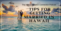 couple on Hawaii beach getting marries