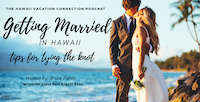 couple on Beach getting married in Hawaii