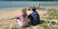 People sitting on Hawaii Beach
